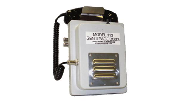 Model 112 GEN 11 Page Boss mine phone system