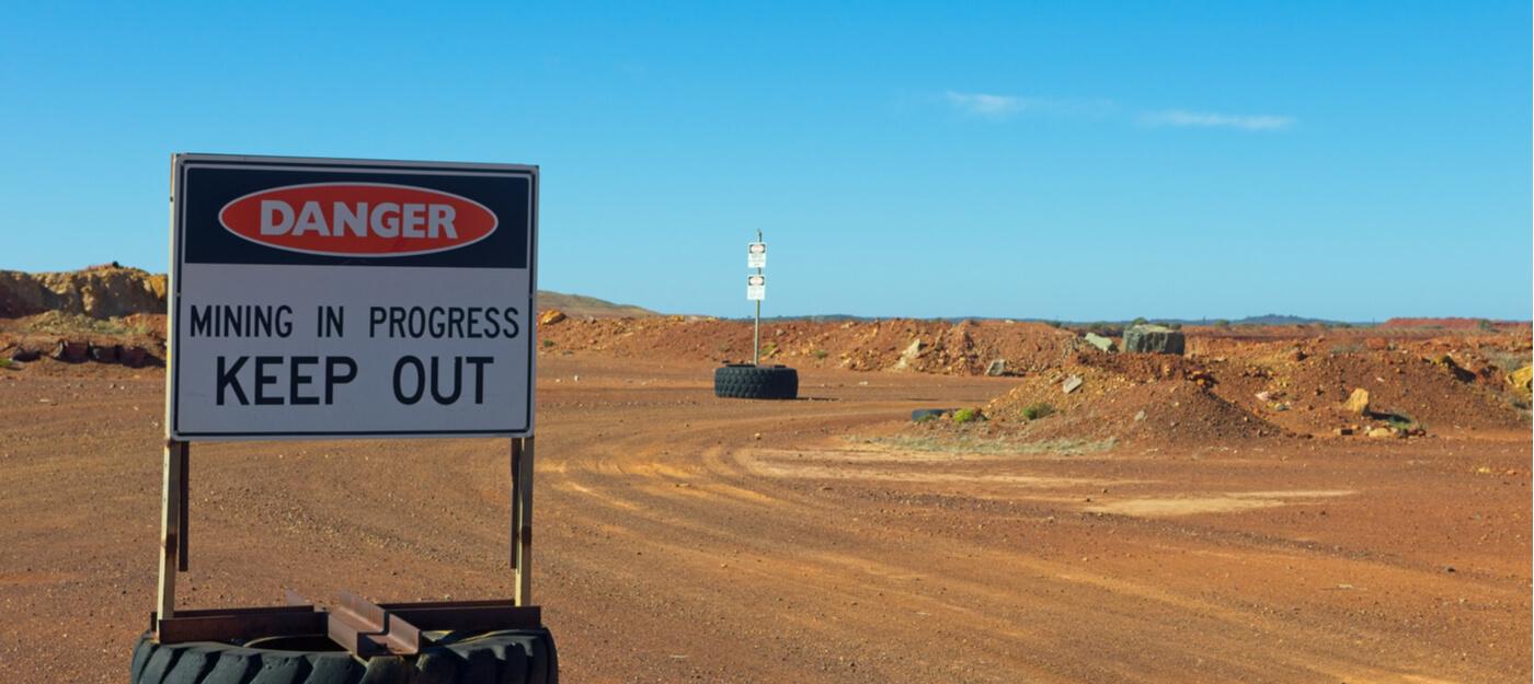 custom mining warning and safety signs